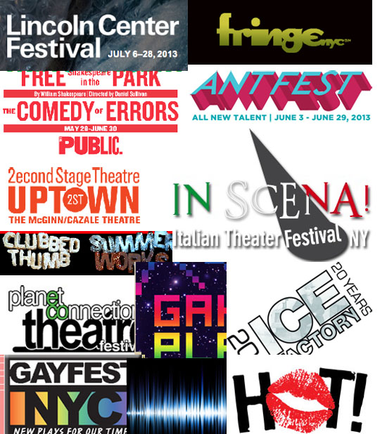 Summer theater festivals in New York City 2013