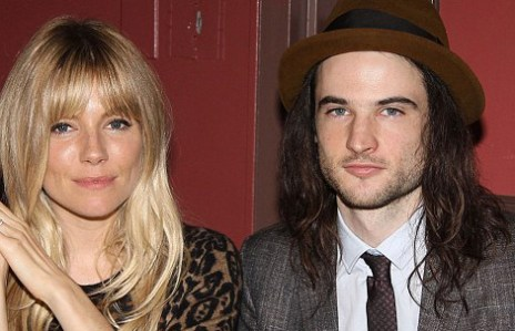 Best featured actor Tom Sturridge, for Orphans, with his fiancee Sienna Miller