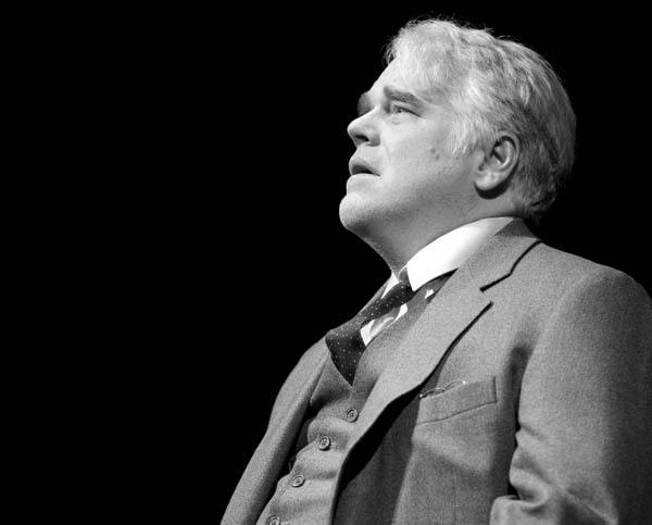 Philip Seymour Hoffman in Death of a Salesman, on Broadway 2012