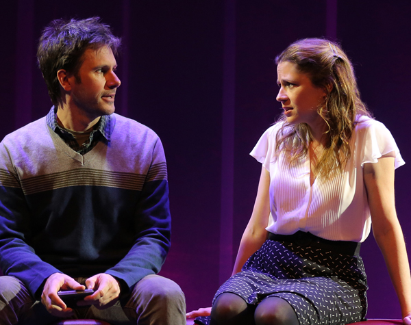 Josh Hamilton and Jenna Fischer in Reasons To Be Happy