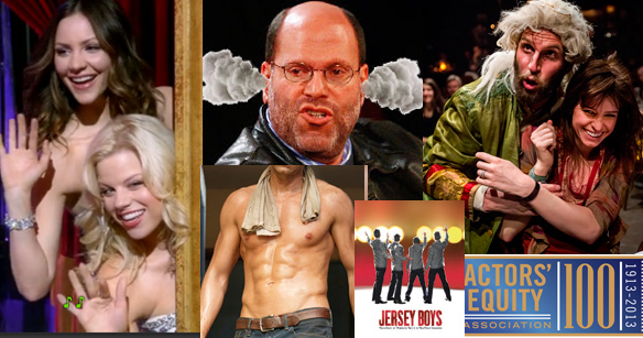 Theater quiz includes questions involving Megan Hilty and Katharine McPhee, producer Scott Rudin, a scene from