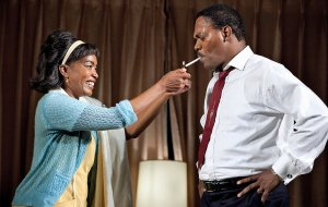Angela Bassett and Samuel Jackson in The Mountaintop