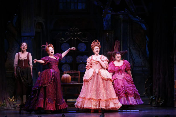 From left to right: Laura Osnes, Harriet Harris, Marla Mindelle and Ann Harada