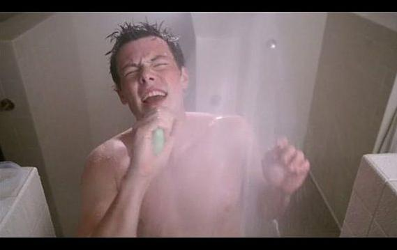 Cory-Monteith-Shower-Scene-Glee