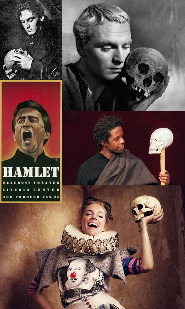 What was the best Hamlet you ever saw? Hamlets from left to right, top to bottom: Edwin Booth, Laurence Olivier, Sam Waterston, Adrian Lesters, Sienna Miller