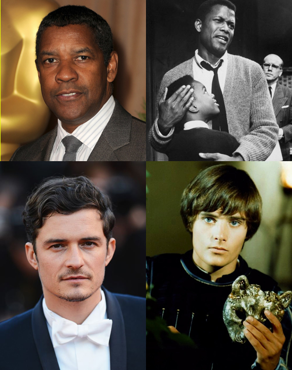 """Denzel Washington is playing Walter Lee Younger in """"Raisin in the Sun"""" at age 58; Sidney Poitier was 34. Orlando Bloom is playing Romeo at age 36. Leonard Whiting was 18."""