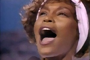 WhitneyHoustonsingingAmericanNationalAnthem