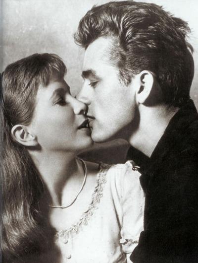 Julie Harris (1925-2013) with James Dean in East of Eden in 1955