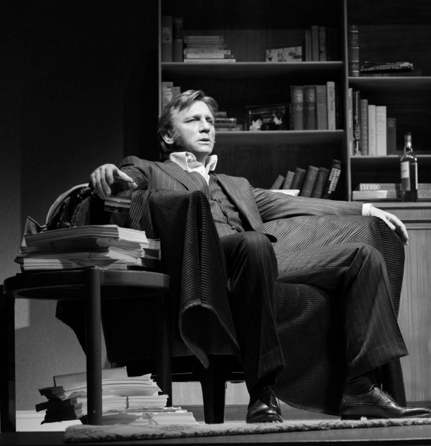 Daniel Craig in Betrayal on Broadway. This is the last time he'll be on Broadway, because the audience is his age.