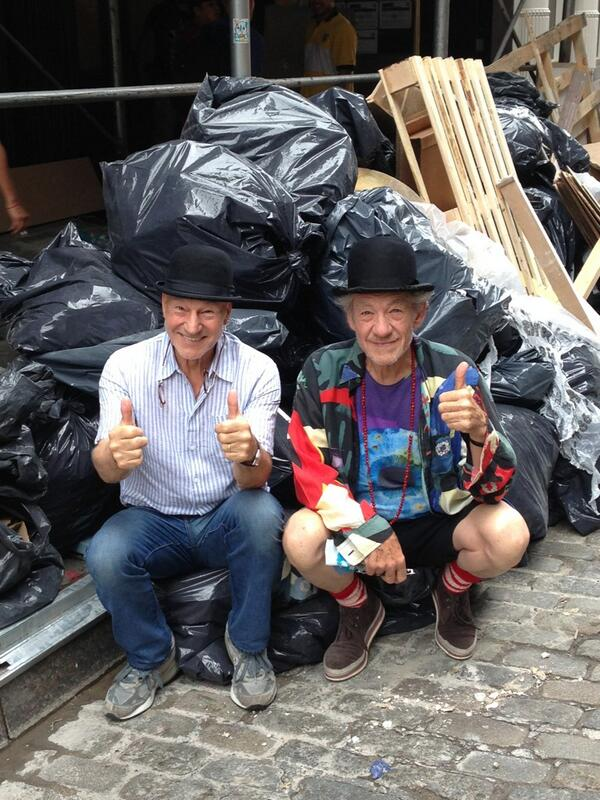 On the curb in front of NYC's famous black plastic garbage bags