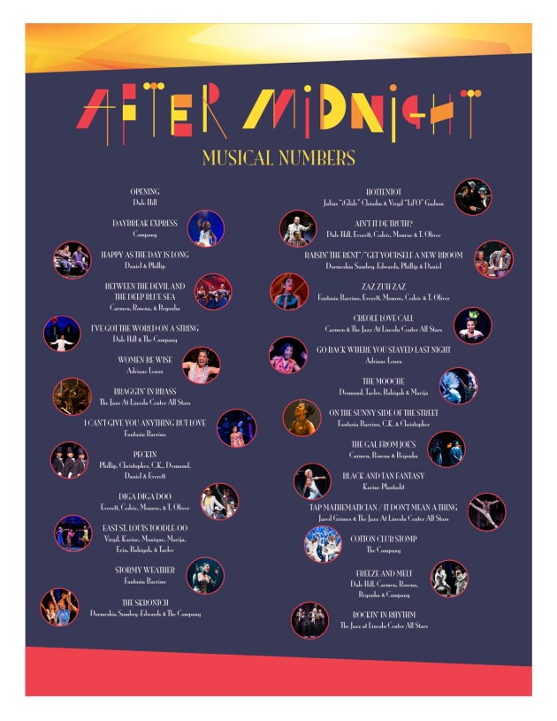 AFTER MIDNIGHT Song List