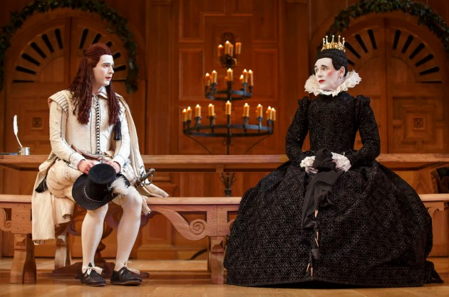 Samuel Barnett as Viola, Mark Rylance as Olivia