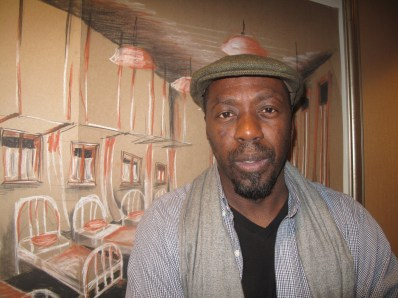 Edwin Lee Gibson, cast member of Death of Bessie Smith. He traveled from his home in Pittsburgh to be in the play at Interfaith Hospital in 2014