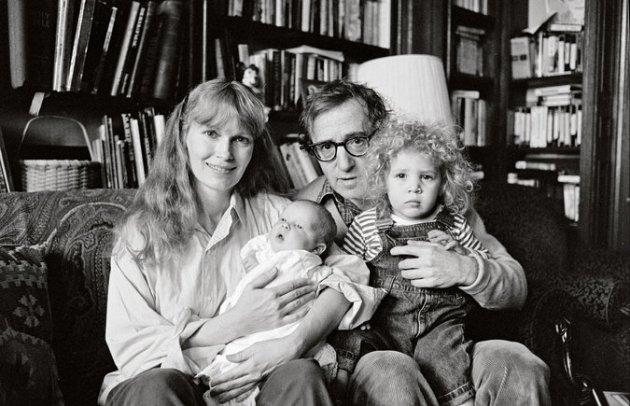 Mia Farrow, Ronan Farrow, Woody Allen, Dylan Farrow, 1988