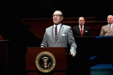 Bryan Cranston as LBJ with Michael McKean as J. Edgar Hoover