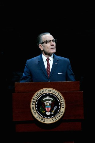 Bryan Cranston as President Lyndon Baines Johnson in All The Way, 2014