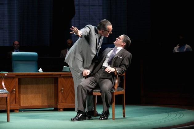 LBJ  (Cranston) with Hubert Humphrey (Robert Petkoff)