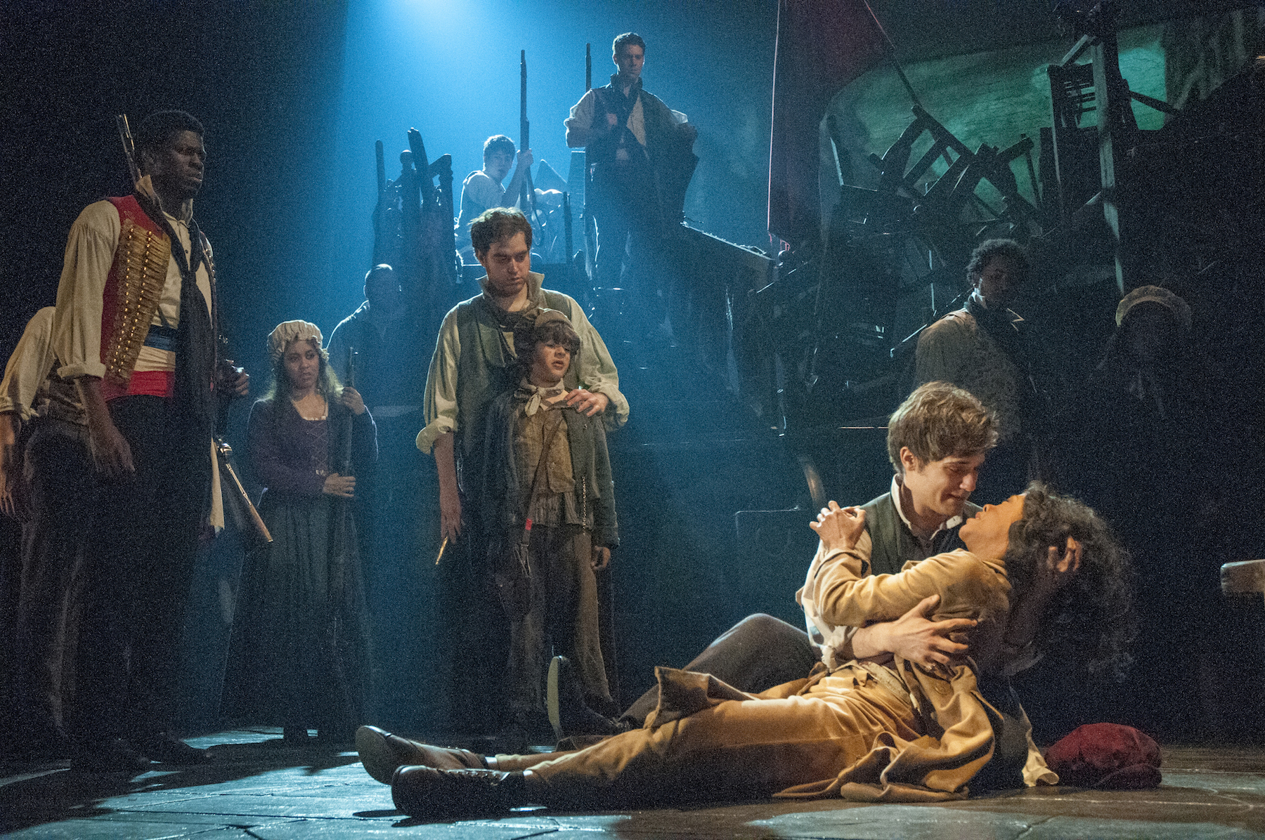 Les Miserables Review Darkened Stages Brilliant Broadway Cast New York Theater