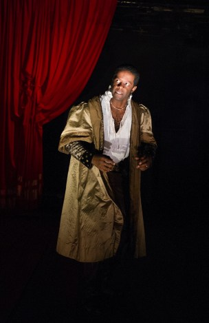 In Red Velvet, Adrian Lester, playing the great 19th century Shakespearean black actor Ira Aldridge, puts on makeup to make him look white. (A similar scene occurs in The Octoroon.)