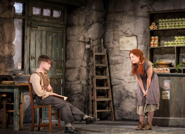 Daniel Radcliffe as Cripple Billy and Sarah Green as his tormenter Helen