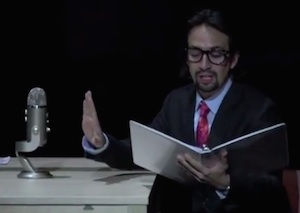 Lin-Manuel narrates his new mini-musical at BAM, 21 Chump Street