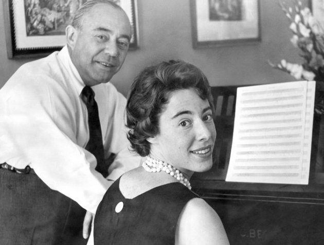 Mary Rodgers and her father Richard Rodgers