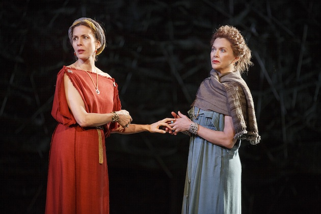 Jessica Hecht and Annette Bening in King Lear in Central Park.