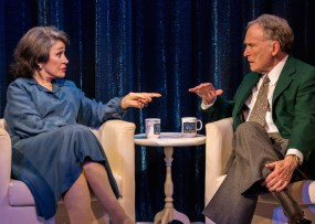 Marcia Rodd as Mary McCarthy and Dick Cavett as...Dick Cavett