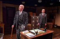 Jonathan Hogan as the boss Mr. Walker, Stephen Plunkett as the cad