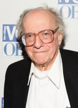 Jerry Tallmer (December 9, 1920 - November 9, 2014) who as the Village Voice theater critic created the Obie Awards in 1956. Here he is at the 50th annual Obies in 2005