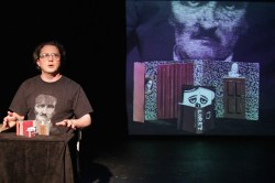At the Puppets and Poets Festival at The Bushwick Star, Kevin P. Hale told the life of Edgar Allan Poe using puppets made out of match sticks. It was funny and moving.