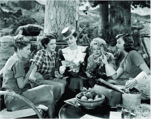 The Women by Clare Booth Luce debuted on Broadway in 1936, and has been revived twice. The 1939 movie starred (pictured) Joan Fontaine, Paulette Goddard, Mary Boland, Rosalind Russell and Norma Shearer.