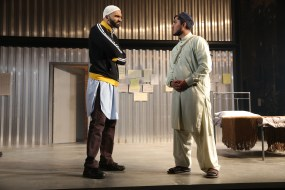 Usman Ally and Jameal Ali in NYTW's THE INVISIBLE HAND - Photo by Joan Marcus