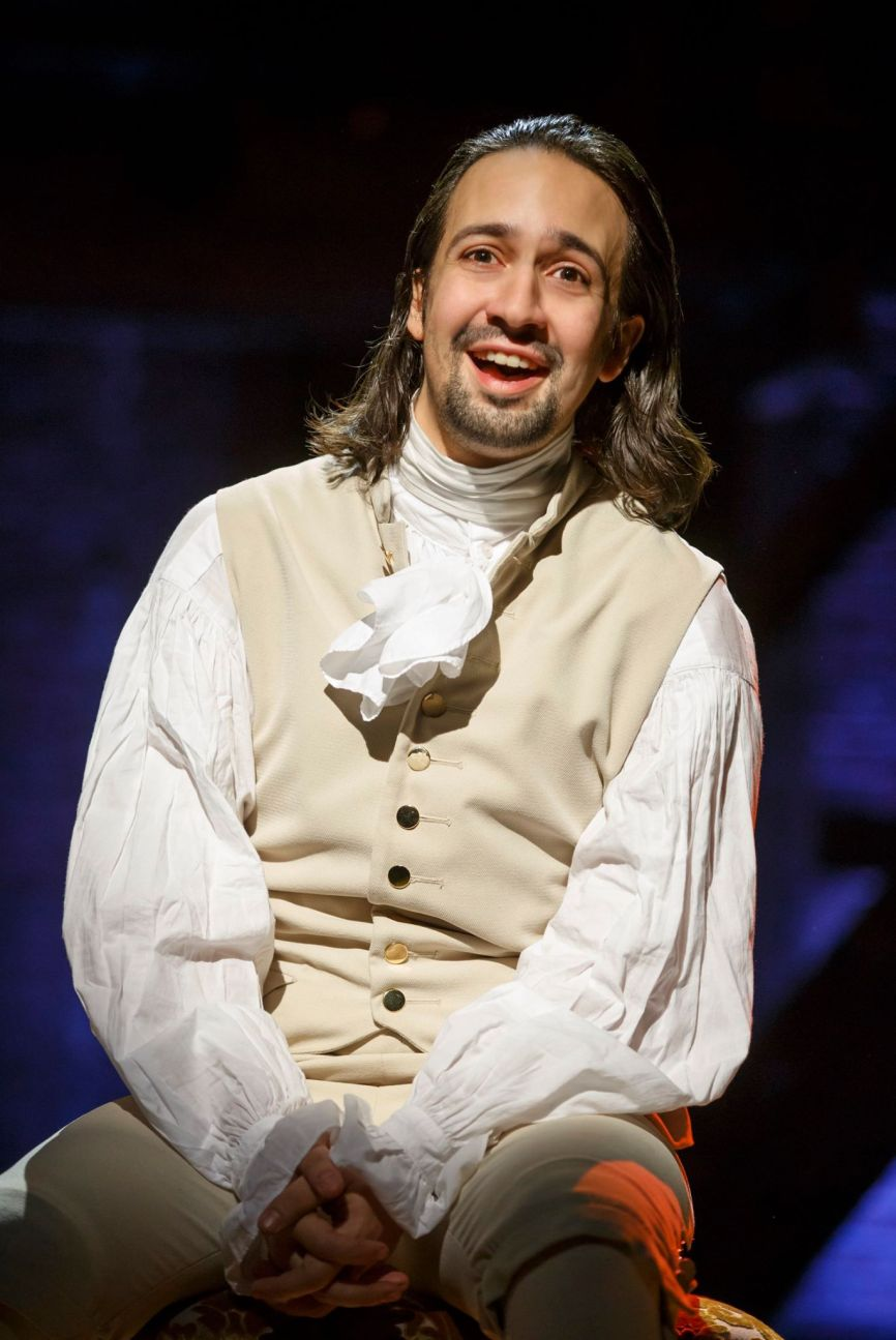 "Lin-Manuel Miranda as Alexander Hamilton in ""Hamilton,"" book, music and lyrics by Miranda."