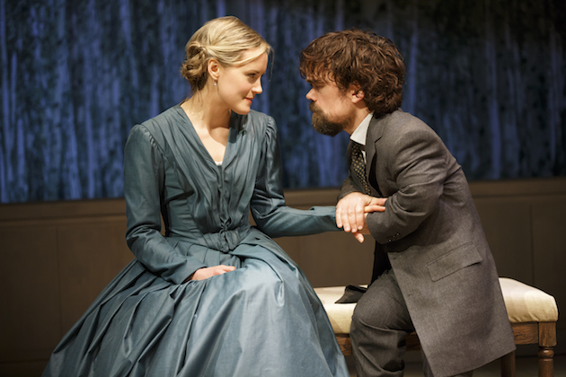 A Month in the Country 1  Taylor Schilling and Peter Dinklage.  Photo by Joan Marcus