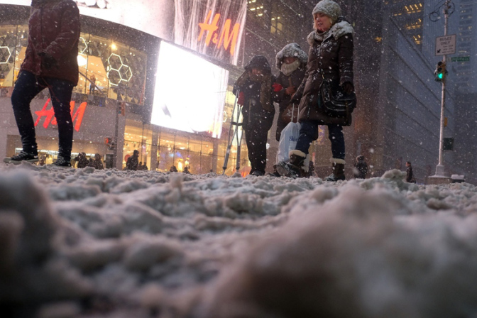 Times Square, January 27, 2015