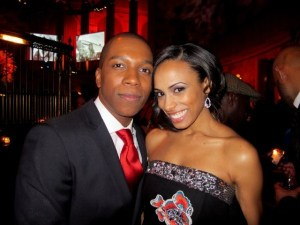 Leslie Odom, Jr. and his wife, actress Nicolette Robinson  (currently in Brooklynite)