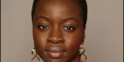 Danai Gurira, author of a play on Broadway and Off Broadway