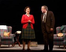 Richard McCabe as Harold Wilson with Helen Mirren as Queen Elizabeth at Balmoral, the royal estate in Scotland