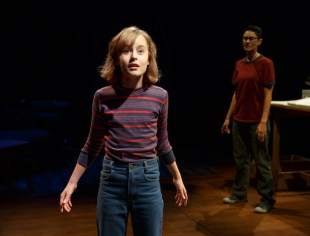 "In the song ""Ring of Keys"" in Fun Home, Sydney Lucas as 12-year-old Small Allison sees a butch lesbian in a diner, and is thunderstruck to realize ""we're alike in a certain way"""