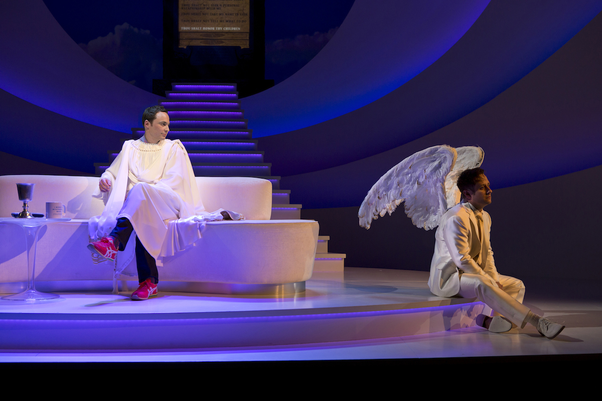 Jim Parsons and Christopher Fitzgerald in Act of God