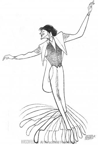Tommy Tune, which Al Hirschfeld drew in 2002.