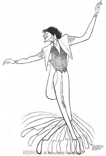 Tommy Tune, which Al Hirschfeld drew in 2002.