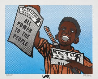 Emory Douglas (b.1943) All Power To The People, 1969 Lithograph on paper Collection of Merrill C. Berman © 2015 Artists Rights Society (ARS), New York