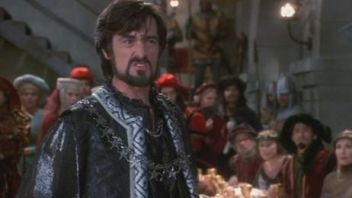 Roger Rees as the Sheriff of Rottingham in Mel Brooks' Robin Hood: Men in Tights.