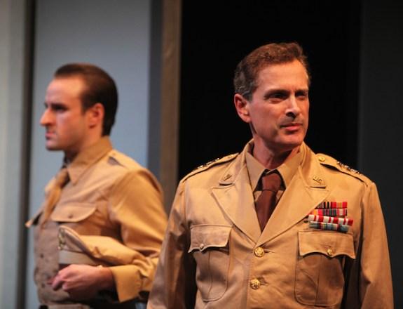 Sayonara 10a Morgan McCann is Ace Gruver, Scott Klavan is General Webster in SAYONARA photo by John Quincy Lee