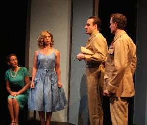Sayonara 11a Sandy York is Mrs. Webster, Jennifer Piacenti is Eileen Webster, Morgan McCann is Ace Gruver, Scott Klavan is General Webster