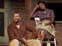 Pictured: Denzel Washington (Troy Maxson) & Viola Davis (Rose)