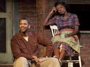 Pictured: Denzel Washington (Troy Maxson) & Viola Davis (Rose)