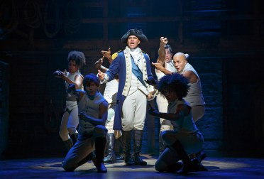 Christopher Jackson as George Washington in Hamilton